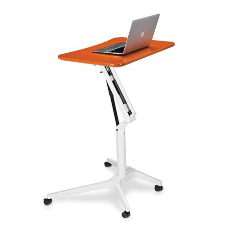 laptop desk portable workstation sit to stand rolling workstation levenger