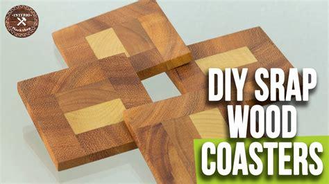diy easy wood coasters scrap wood coasters woodworking