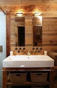 decoration salle de bain chalet With salle de bain montagne