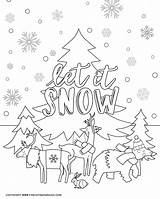 Coloring Winter Printable Activity Animals Sheet Cold Indoor Days Three Perfect sketch template