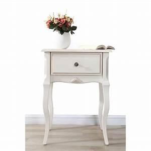Table De Chevet Blanc Et Bois : miliboo table de nuit baroque bois blanc bianca achat ~ Teatrodelosmanantiales.com Idées de Décoration