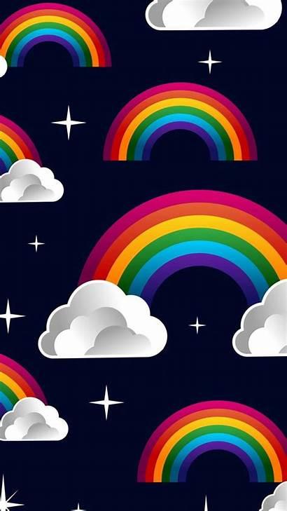 Phone Watercolor Rainbow Kawaii Backgrounds Pretty Wallpapers