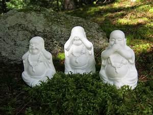 Statue Bouddha Exterieur : statues de bouddha trois figures de bouddha rieur hear no ~ Teatrodelosmanantiales.com Idées de Décoration