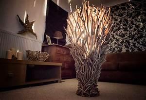large driftwood floor lamp celtic coast creations With large driftwood floor lamp