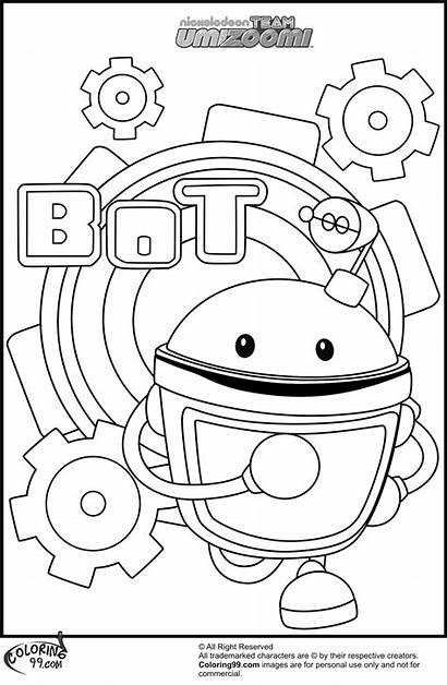 Umizoomi Coloring Team Bot Characters Colorare Disegni
