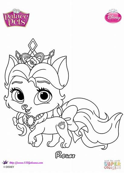 Palace Pets Coloring Pages Rouge Printable Disney