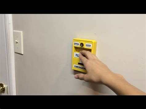 wall system test  emergency door open youtube