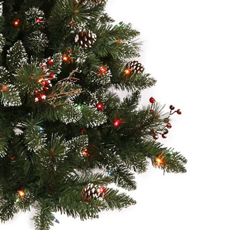 snow and berries christmas tree 7 ft frosted snow tip pine berry vickerman