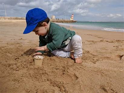 Sand Play Toes Playing Algarve Delights Theo