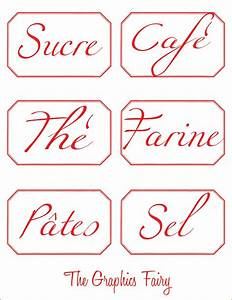 French printable canister labels the graphics fairy for Canister labels printables