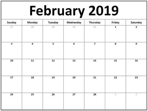 february calendar   office monthly calendar