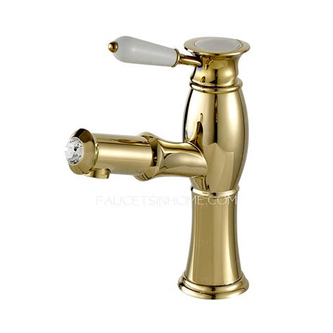 luxury bathroom sink faucets high end luxury gold brass pull out bathroom faucet