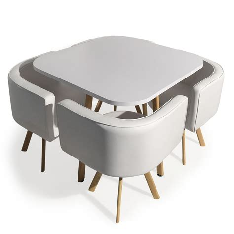 table encastrable cuisine table et 4 chaises encastrables blanc paolo lestendances fr