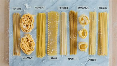 picture guide  pasta types whats  dinner