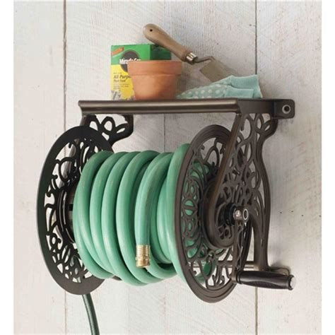 liberty lgp 704 decorative wall mount garden hose reel