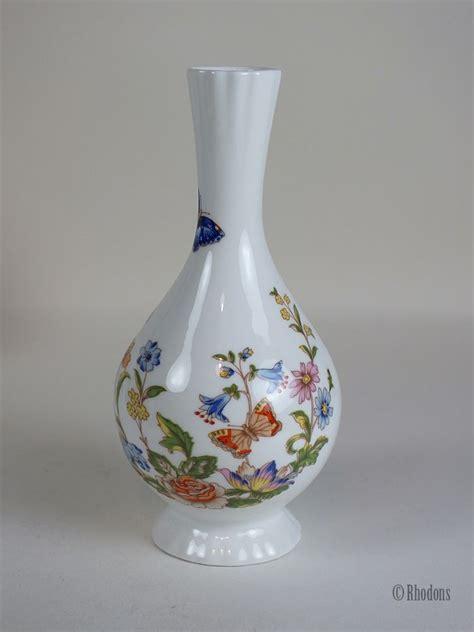aynsley fine bone china bud vase cottage garden pattern