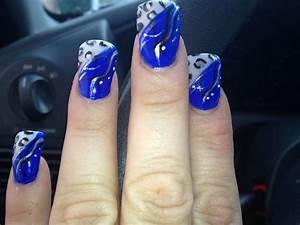 Royal blue nails | Nails | Pinterest