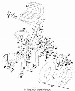 Gravely 44173 Sulky Steer 2 Wheel Tractor Parts Diagram For Steering Sulky