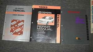 1993 Toyota Tercel Service Shop Repair Manual Set W Wiring