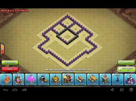 clash  clans town hall   defense trophywar base
