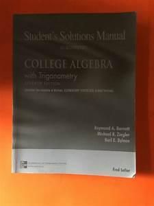 Student U0026 39 S Solutions Manual To Accompany College Algebra