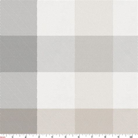 Gray And Taupe Buffalo Check Fabric By The Yard Taupe