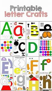 these printable letter crafts are perfect for your With arts and crafts letters of the alphabet