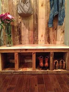 Pallet Entryway Bench - Storage Bench 101 Pallets