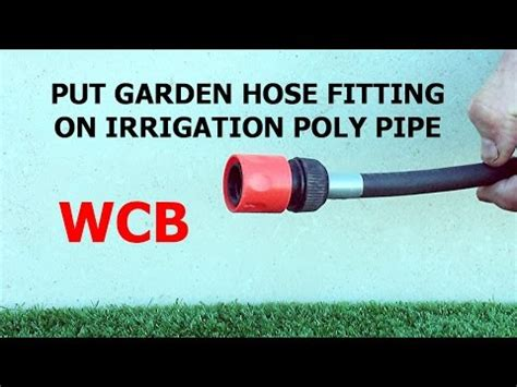 can you connect a hose to a kitchen sink how to connect garden hose fitting to irrigation poly pipe 9958