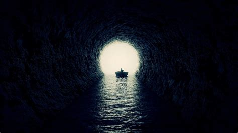 Boat inside the cave HD Wallpaper iPhone 7 Plus / iPhone 8 ...