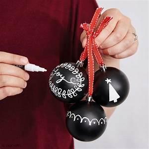 Mini Boule De Noel : boule de no l ardoise 10 cm boule plastique opaque creavea ~ Dallasstarsshop.com Idées de Décoration