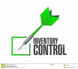Inventory Control Check Dart Sign Concept Stock ...