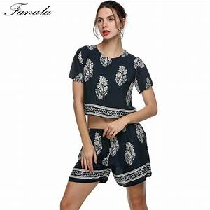 FANALA Vintage Style Women Summer Casual Print O Neck ...