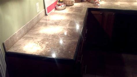 Install marble tile countertops with ease.   YouTube