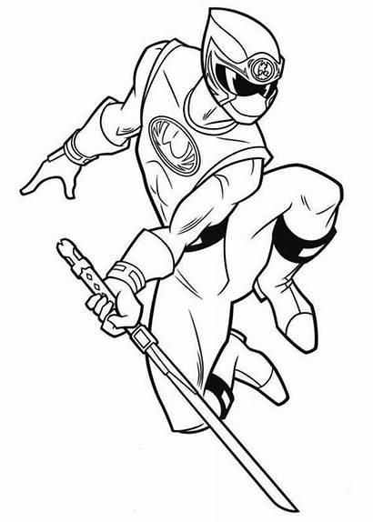 Ninja Rangers Coloring Power Dessin Storm Ranger