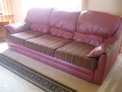 How To Recover A Chair Seat Cushion by Recovering Leather Sofa Leather Couch With Fabric Cushions