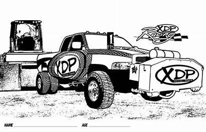 Coloring Truck Pickup Diesel Xdp Crayon National
