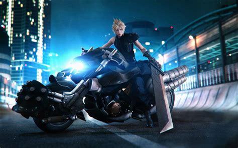 cloud strife motorcycle final fantasy  remake