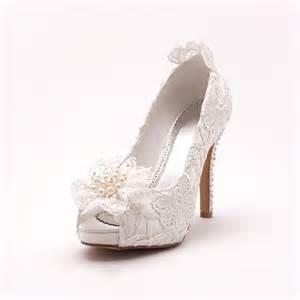 chaussure compensã e mariage la tete de poisson blanc dentelle mariée de chaussures chaussures de mariage chaussures