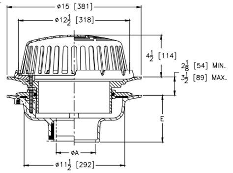 wade floor drain extension zurn z100 ea roof drain adjustable extension