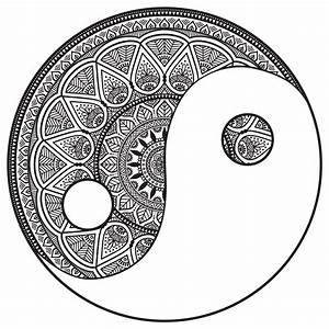 Buch Selber Binden Spirale : mandala yin and yang to color m alas adult coloring pages ~ Frokenaadalensverden.com Haus und Dekorationen
