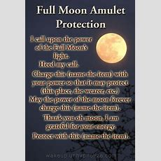 Full Moon Amulet Protection (printable Spell Pages)  Witches Of The Craft®