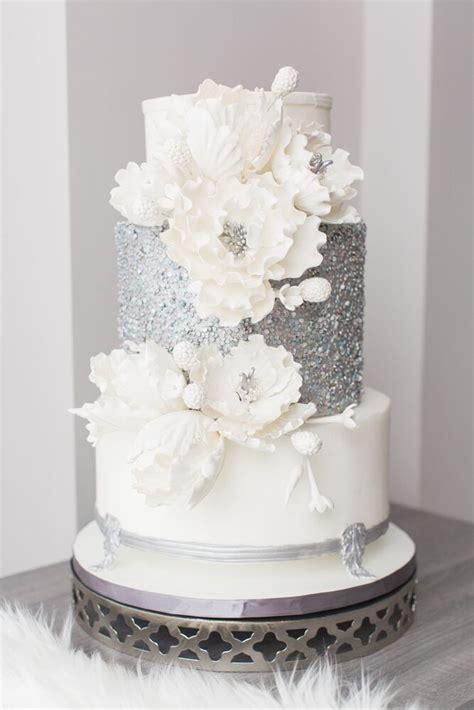 luxurious white  blue winter wonderland wedding