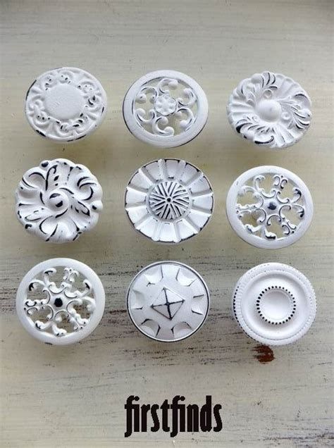 shabby chic cabinet hardware 9 misfit shabby chic kitchen cabinet knobs vintage by firstfinds