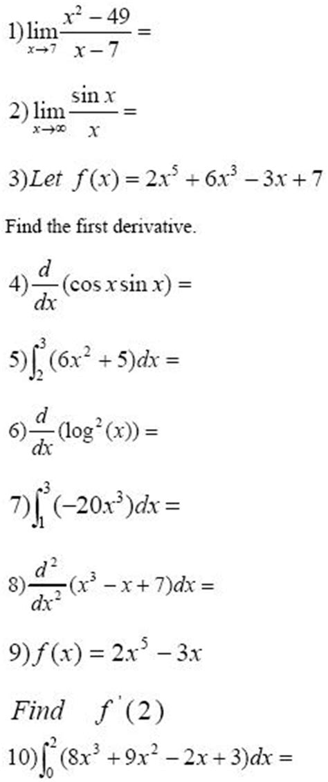 Calculus Derivatives Worksheet Worksheets For All  Download And Share Worksheets  Free On