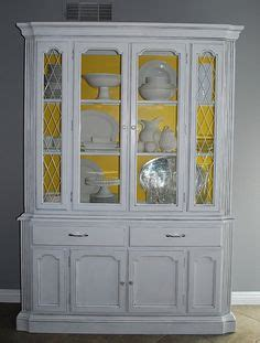 starch and hutch fabric back painted china cabinet soak fabric in liquid