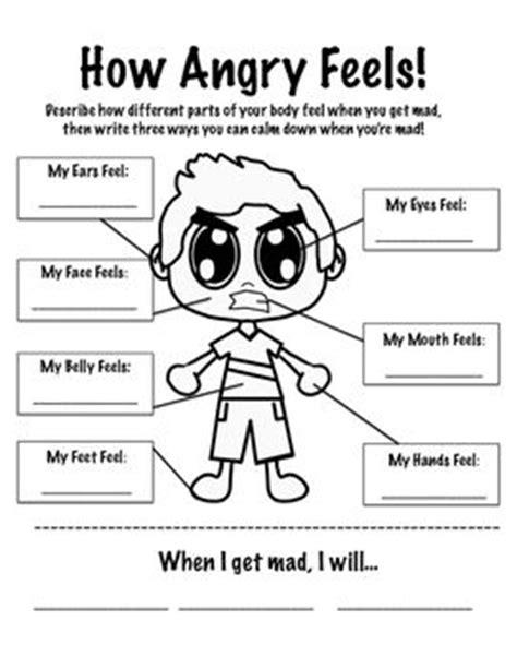 anger management activities for preschoolers how anger feels anger management worksheet k 228 nslor 608