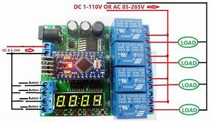 Dc 12v 24v 4ch Pro Mini Plc Board Relay Shield Module For Arduino Diy Led Display Cycle Delay