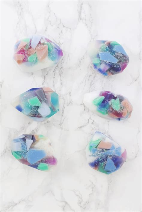 bathroom ideas decor gemstone soap diy two ways a beautiful mess