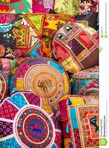 Colorful Indian pillows stock photo Image of ethnic